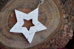 Étoile en bois Photo libre de droits
