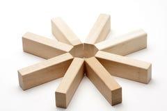 Étoile en bois Images stock