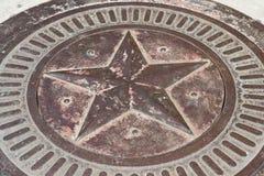 Étoile en bronze avec la patine image libre de droits