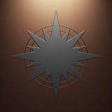 Étoile en métal Images libres de droits
