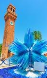 Étoile en verre de comète dans Murano image libre de droits