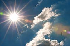Étoile et avion de Sun Photographie stock