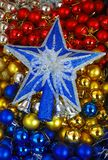 Étoile et boules Images libres de droits