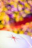 Étoile et fond coloré de bokeh Images libres de droits