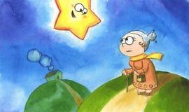 Étoile et mémé drôles Image libre de droits
