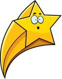 Étoile filante étonnée de bande dessinée illustration de vecteur