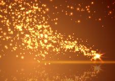 Étoile filante abstraite intelligente miroitant le fond de comète illustration libre de droits