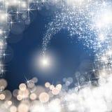 Étoile filante avec la traînée d'étoile de scintillement photographie stock