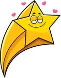 Étoile filante de bande dessinée dans l'amour Image libre de droits
