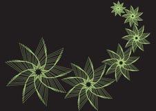 Étoile-fleurs vertes illustration libre de droits