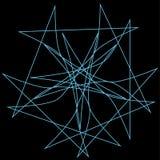 Étoile géométrique de symétrie d'astrologie de modèle Images libres de droits