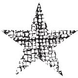 Étoile grunge une illustration stock