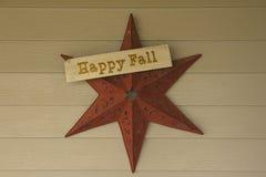 Étoile heureuse rouge brunâtre d'automne photo libre de droits