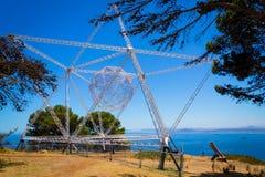 Étoile Installatation sur la colline de signal, Cape Town Photographie stock libre de droits