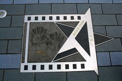 Étoile Jackie Chan en Hong Kong photos stock