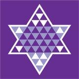 Étoile juive de modèle Photographie stock