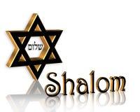 étoile juive de shalom de hanukkah illustration stock