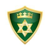 Étoile juive hébreue de vecteur de bouclier de Magen David Images libres de droits