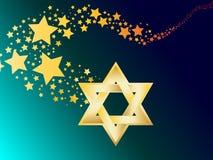 Étoile juive hébreue de vecteur de Magen David Photos stock