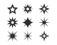 Étoile Logo Template illustration libre de droits
