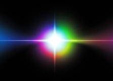 Étoile lumineuse abstraite illustration de vecteur