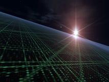 Étoile lumineuse au-dessus d'alignement léger Photographie stock libre de droits