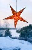 Étoile lumineuse de nuit Images stock