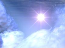 Étoile lumineuse en nuages célestes #2 Photos libres de droits