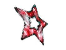 étoile mélangée de fractale Photo stock