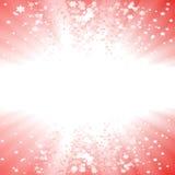 étoile magique d'explosion de Noël Photo libre de droits