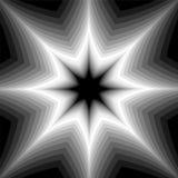 Étoile monochrome miroitant de l'obscurité pour allumer des tons Effet visuel de volume Fond abstrait géométrique polygonal Photo libre de droits