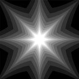 Étoile monochrome rayonnant de l'obscurité pour allumer des tons Effet visuel de volume Fond abstrait géométrique polygonal Image libre de droits
