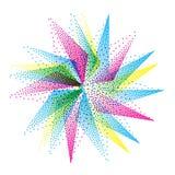 Étoile mystique Symbole géométrique abstrait Vecteur illustration libre de droits