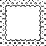 Étoile noire et blanche de David Patterned Background avec Embroide Illustration Stock