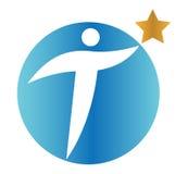 Étoile Person Concept Icon Design Photographie stock libre de droits