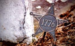 Étoile révolutionnaire de guerre - 1776 photographie stock libre de droits