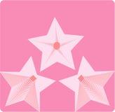 Étoile rose Illustration Stock
