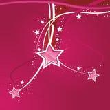 étoile rose de fond swirly Photos stock
