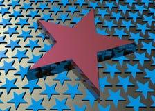 Étoile rouge Images libres de droits