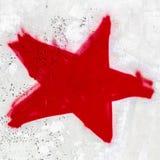 Étoile rouge Photo stock
