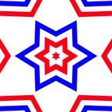 Étoile rouge, blanche, et bleue - fierté américaine illustration libre de droits
