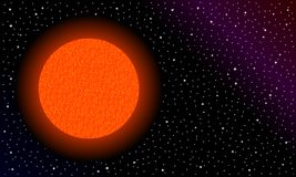 Étoile rouge dans l'espace photo stock