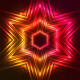 Étoile rouge de vecteur du feu Image stock