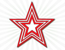 Étoile rouge et blanche Photographie stock