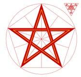 Étoile rouge - le symbole héraldique, le symbole de l'armée rouge, était présent sur le drapeau et le manteau des bras de l'URSS Images libres de droits