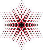 étoile rouge noire Image libre de droits