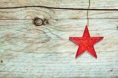 Étoile rouge texturisée colorée de Noël Image libre de droits