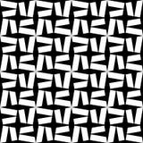 Étoile sans couture moderne de modèle de la géométrie de vecteur, résumé noir et blanc Photos libres de droits