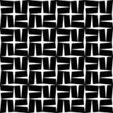 Étoile sans couture moderne de modèle de la géométrie de vecteur, résumé noir et blanc Photo libre de droits