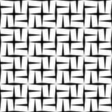 Étoile sans couture moderne de modèle de la géométrie de vecteur, résumé noir et blanc Image libre de droits